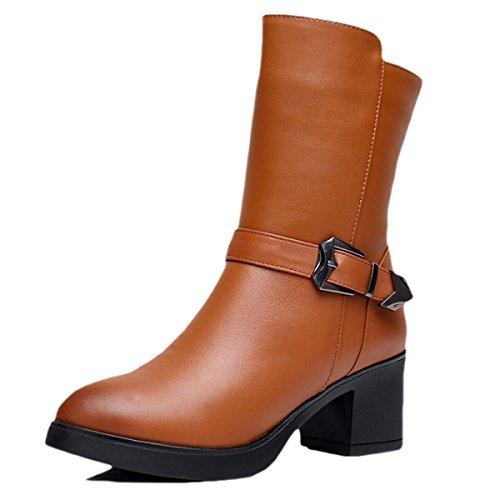 E Para Oto snfgoij Cuero Botas De con Calzado Las Martin De Invierno M o Botas Mujer Invierno Las con Boots rrx6Adw