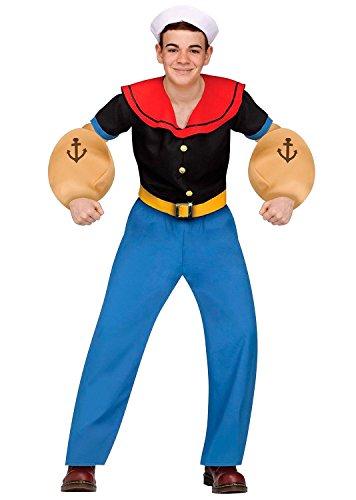 [Popeye the Sailor Man Teen Costume] (Olive And Popeye Halloween Costume)