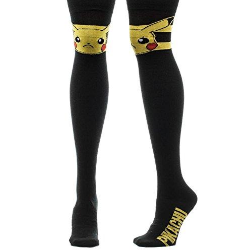 Pokemon-Pikachu-Face-Over-Knee-High-Socks-Official-Pokemon-Nintendo