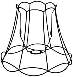 Rond oblique Abat-jour Suspendu,Abat-jour Lampadaire QAZQA R/étro Acier Abat-jour Granny Frame 50cm DS E27 noir