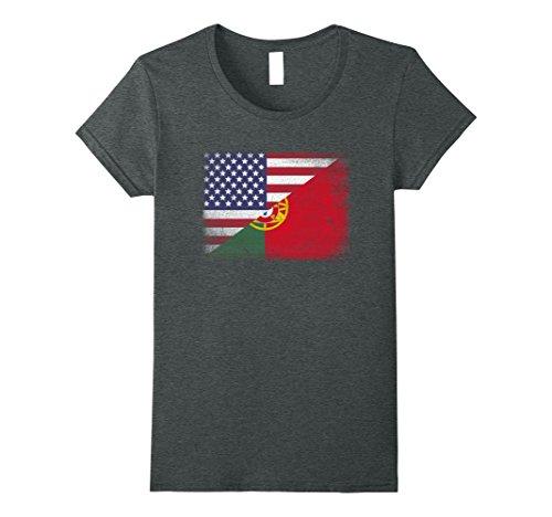 Womens Portuguese Flag T-shirt Portugal XL Dark - Women Portugal