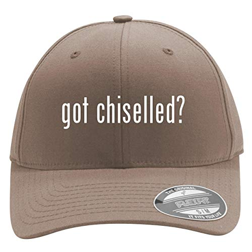 got Chiselled? - Men's Flexfit Baseball Cap Hat, Khaki, Large/X-Large ()
