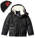 Weatherproof Boys' Big Long Bubble Jacket, Black, 8