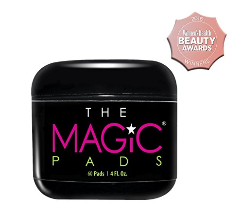 The Magic Pads - 2% Glycolic Acid Pads with USDA Certified Organic Extracts, 60 Count - Organically Help Treat Acne, Clear Blemishes, Smooth and Tighten Skin