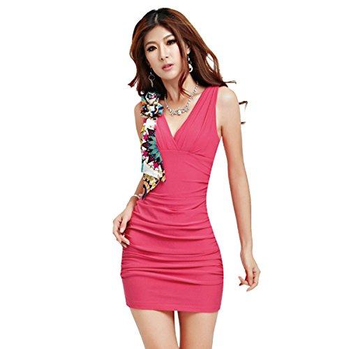 Las Mujeres Del Verano Vestido Del Club Nocturno Del Paquete Atractivo De La Cadera De Varios Colores De Varios Tamaños Red
