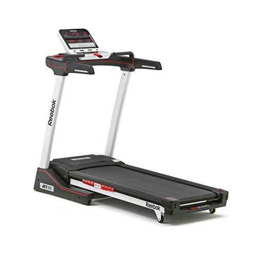 Reebok Jet 100 Folding 10 MPH Treadmill with 12 Incline Levels (Without Equipment Mat)/Treadmill and Equipment Mat Set