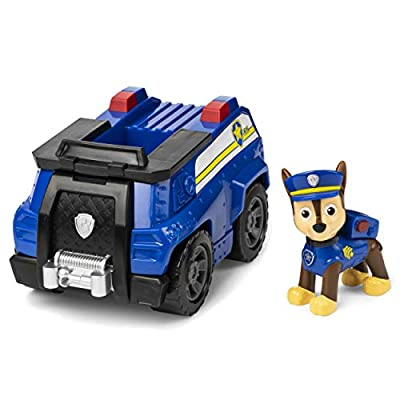 Paw Patrol, Chase's Patrol Cruiser Vehicle with Collectible Figure, for Kids Aged 3 and Up: Toys & Games