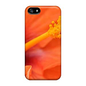 New Arrival Iphone 5/5s Case Orange Hibiscus Flower Case Cover