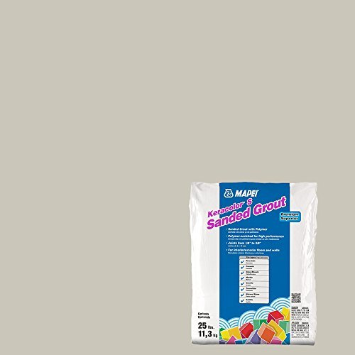 Alabaster Splash - MAPEI Keracolor S Alabaster Cementitious Sanded Powder Grout - 25LB Bag