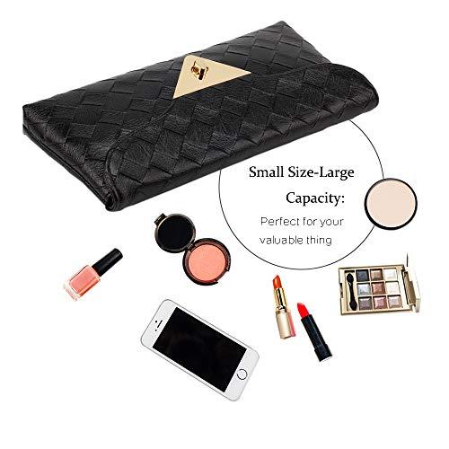 Clutch Chain Bag Detachable Purse Black Party Glitter with Marswoodsen Handbag Women's Bag Envelope Wedding Evening Clutch qYXUw6