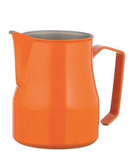 Motta Stainless Steel Professional Milk Pitcher, 25.4 fl. oz, Orange by Metallurgica Motta