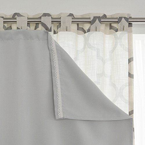 Blackout Curtain Liner Panel Pair – Rod Pocket – Off Whi