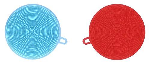 Silicone Sponge,Silicone Food-grade Dish-washing Scrubber, Non Stick Multi-purpose Cleaning Kitchen Dish Brush, Mildew-free and BPA Free by kenkakoi