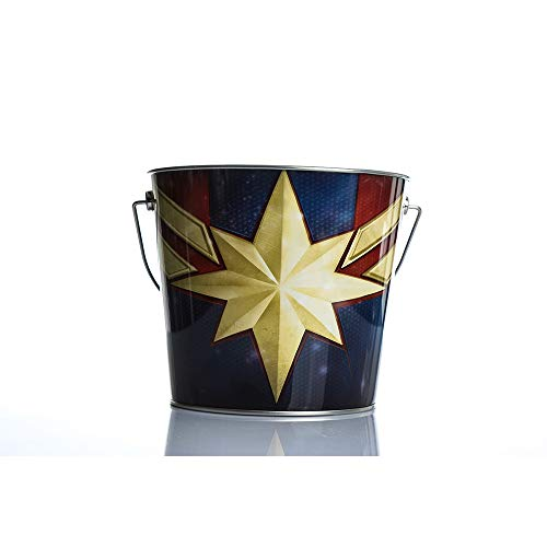 - Captain Marvel LOGO Handle Popcorn bucket Snack Bowls Popcorn Containers for Movie Night Avengers 4 Endgame