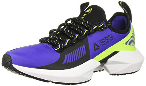 Reebok Women's Sole Fury TS Cross Trainer, Purple/Black/neon Lime, 6.5 M US