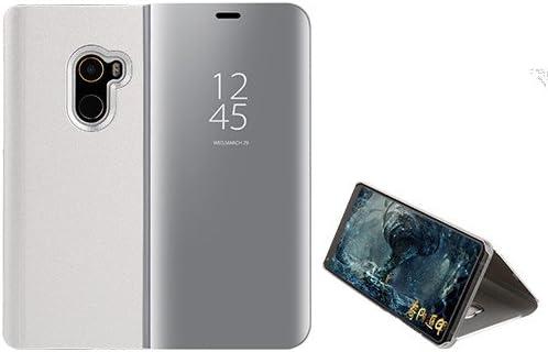 Funda® Espejo Enchapado Flip Xiaomi Mi Mix 2 (Plata): Amazon.es ...