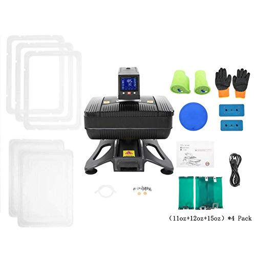 US Stock Professional 110V All in 1 Auto Open Pneumatic T shirt Heat Press Machine 3D Sublimation Vacuum Heat Transfer Machine For Phone Cases,Plate Bottles, Mugs