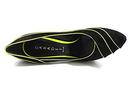 Donna Casadei scarpe camoscio giallo