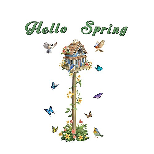 Collections Etc Hello Spring Birdhouse Removable Garage Door Magnets Set by Collections Etc