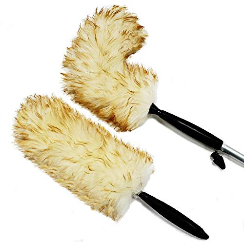 (Australian Lambs Wool Duster w/Flexible Head. Dual Use. Hand held and fits on a Pole.)