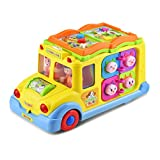 KATUMO Intellectual Musical School Bus Toy, Learning Educational Toys for Baby & Toddles, Electronic Toy Car Multiple Games with Lights and Sounds for 1 2 3 Year Old Boys and Girls
