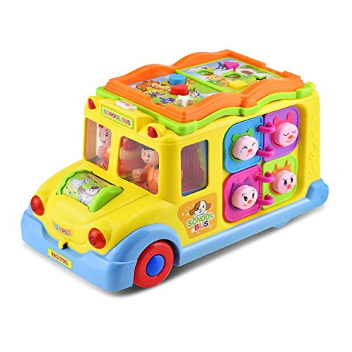 Giant Bus School (KATUMO Intellectual Musical School Bus Toy, Learning Educational Toys for Baby & Toddles, Electronic Toy Car Multiple Games with Lights and Sounds for 1 2 3 Year Old Boys and Girls)