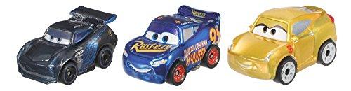 Disney Pixar Cars Mini Racers Metal Vehicles, 3 Pack (Mattel Disney Pixar Cars 3 Mini Racers)
