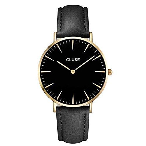 Cluse Unisex-Armbanduhr Analog Quarz Leder CL18401