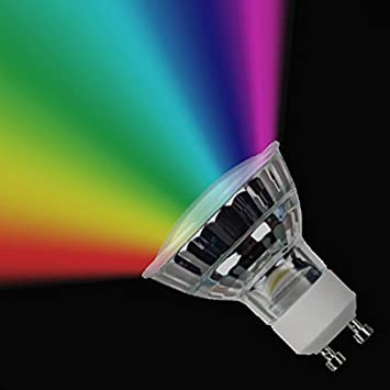 GU10 bombilla LED Multi-color con mando a distancia (GU10 RGB): Amazon.es: Hogar
