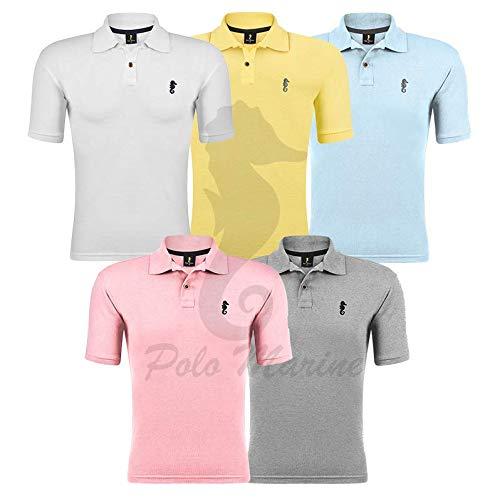 Kit 05 Camisetas Gola Polo - Polo Marine (Kit 03, G)