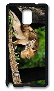 MOKSHOP Adorable fox family Hard Case Protective Shell Cell Phone Cover For Samsung Galaxy Note 4 - PCB