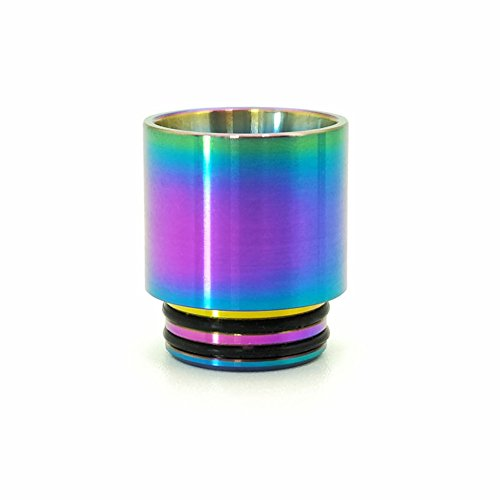 Pettstore TFV12 Prince 8ml Extended Replacement Bulb Glass Tube Atomizer Nozzle Rainbow Drip Tip (Drip Tip)