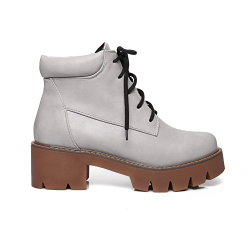 Square Toe Off Boots Round BalaMasa Bandage White Leather Heels Womens Imitated XaxqcqFET