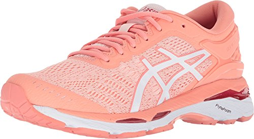 ASICS Gel-Kayano 24 Women's Running Shoe, Seashell Pink/White/Begonia Pink, 7.5 M US