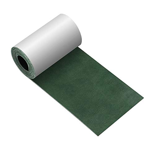 Leather Repair Tape 3X60 inch Patch Leather Adhesive for Sofas, Car Seats, Handbags, Jackets,First Aid Patch (Blackish - Green Leather Sofa