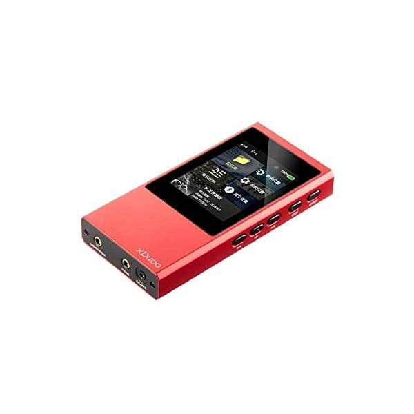 HiFi Mp3 Player Lossless Music DSD Aptx Bluetooth 4.1 High Fidelity Mp3 Player Red 5