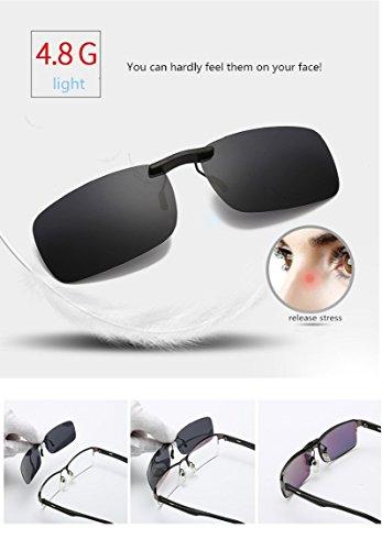 de de accesorio sol clip para polarizadas UV400 Color de gafas Buenas pesca libre gafas de aire para conducción recetados gafas al sol miopía anteojos 5 estilo Lentes gafas dqPEgd