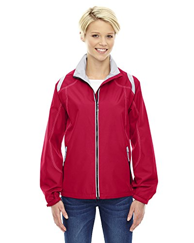 Ladies North End - North End Ladies Endurance Lightweight Colorblock Jacket, XL, OLYMPIC RED 665