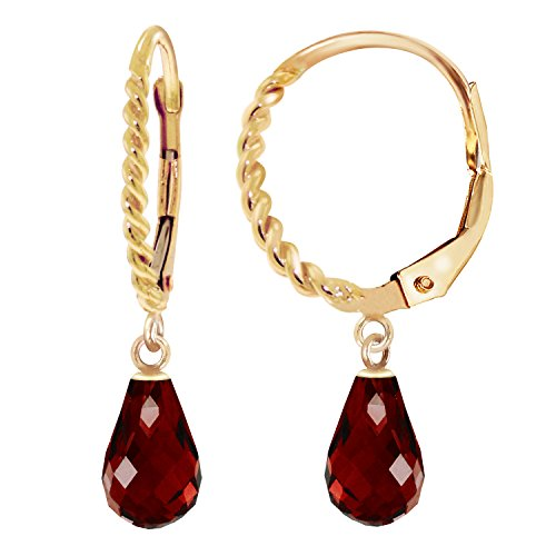 ld Leverback Earrings Briolette Garnet ()