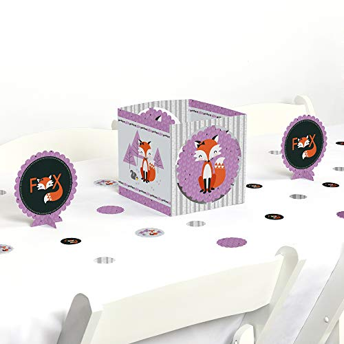 (Big Dot of Happiness Miss Foxy Fox - Baby Shower or Birthday Party Centerpiece & Table Decoration Kit)