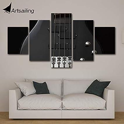 kxdrfz HD Moderno 5 Pezzo Tela Arte Musica Rock Chitarra ...