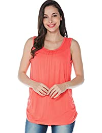 aa5aee6279a33 Women's Maternity Nursing Tank Top Sleeveless Comfy Breastfeeding Clothes