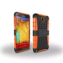 Note3 Case, Kickstand Feature, Fits Samsung Galaxy Note 3,DRUnKQUEEn [Drop Protection] [Shock Absorption] Rugged Hybrid Dual Layer Armor Defender Protective Case Cover