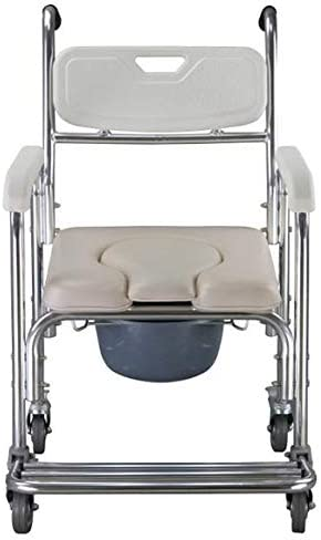 EtchedYelo 3 in 1 Chair Shower Commode Mobile Chair