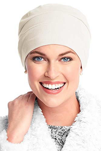 Headcovers Unlimited Three Seam Cotton Sleep Cap-Caps for Women with Chemo Cancer Hair Loss Cream