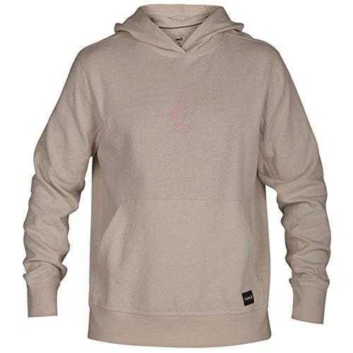 Hurley Men's Atlas Chillin Pullover Hoodie Kangaroo Pocket Jacket, Light Cream (200), Large ()