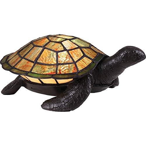 (Quoizel TF3694VB Sawback Tiffany Turtle Table Lamp Lighting, 1-Light, 15 Watt, Vintage Bronze (4