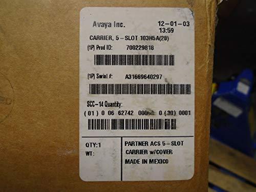 Avaya Partner ACS 308 509 Processor 5 Slot Carrier W/Cover 700229818 103H5A