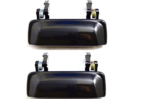 PT Auto Warehouse FO-3545ZS-DP - Outside Exterior Outer Door Handle, Zinc Metal, Smooth Black - Left/Right Pair