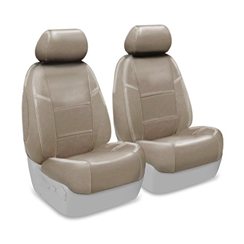 Coverking Custom Seat Cover for Select Toyota Prius Models - Premium Leatherette (Taupe)